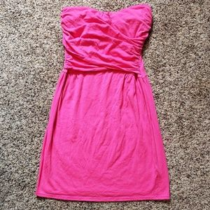 Victoria's Secret bra tops strapless dress pink